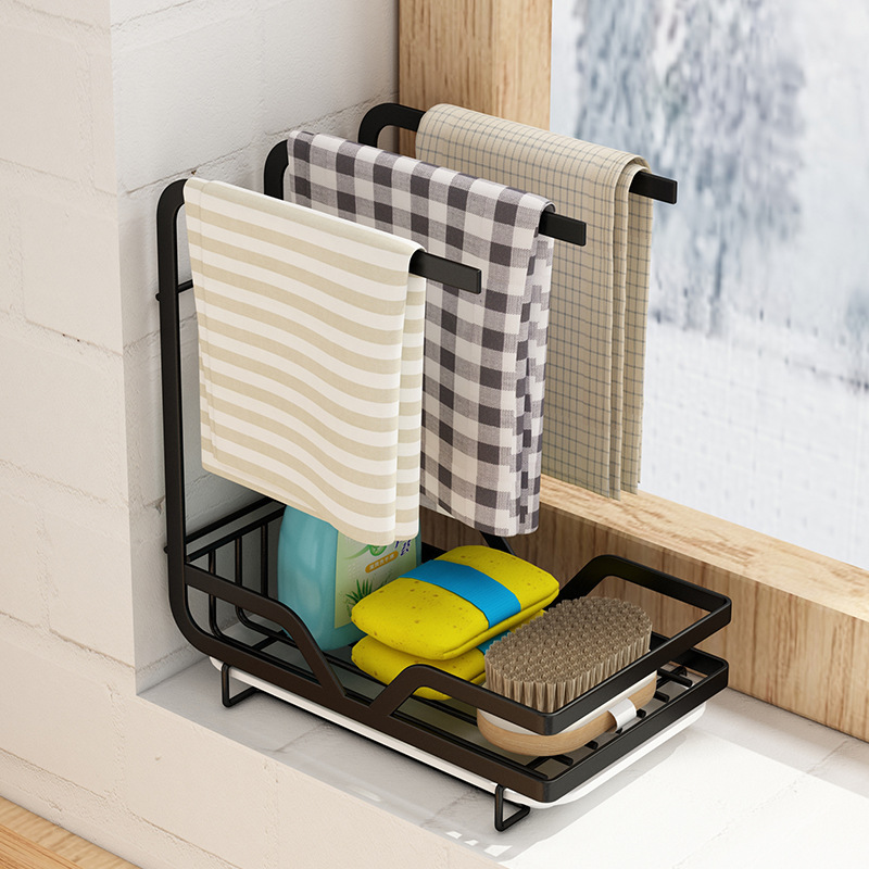 Space-Saving Kitchen Shelf for Organizing Towels