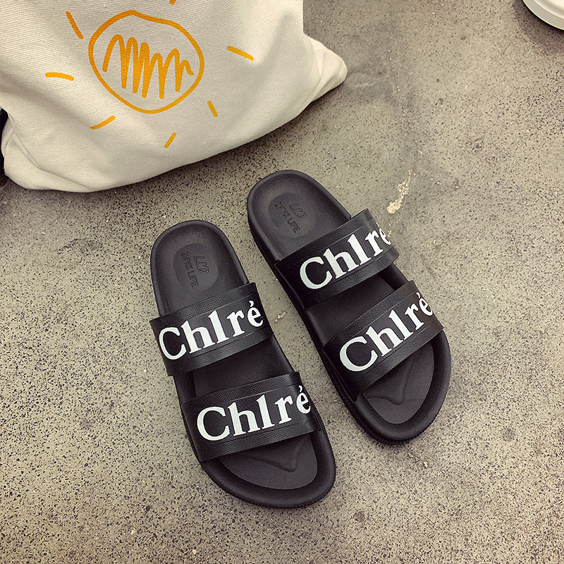 Trendy Solid-Colored Non-Slip Slippers for Beach Outings