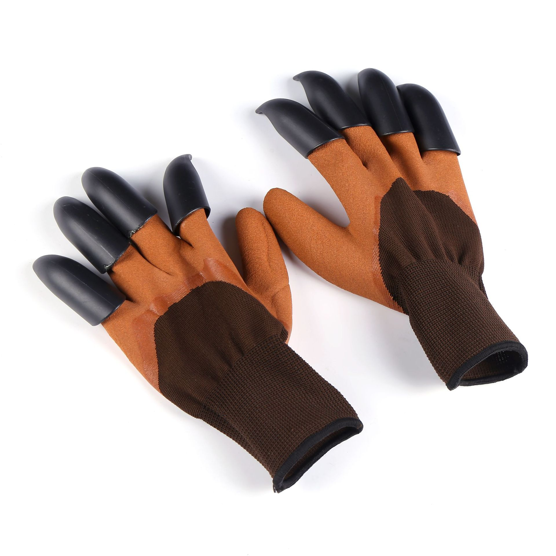 Non-Disposable Latex Gloves with Plastic Paws for Gardening