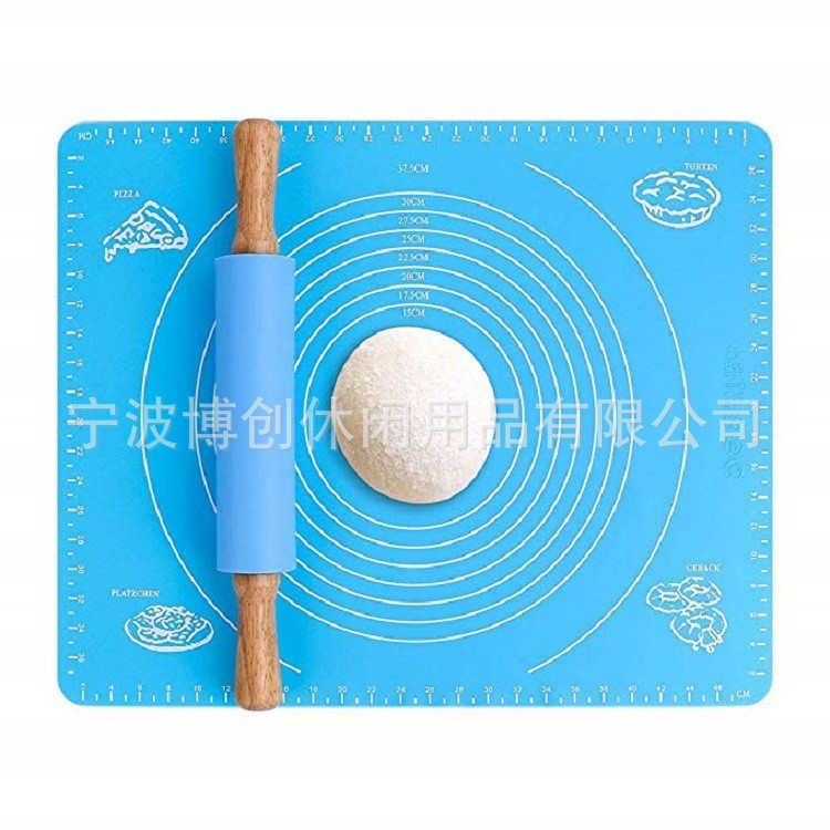 Thick Colored Heat-Insulation Silicone Mat for Kneading Dough