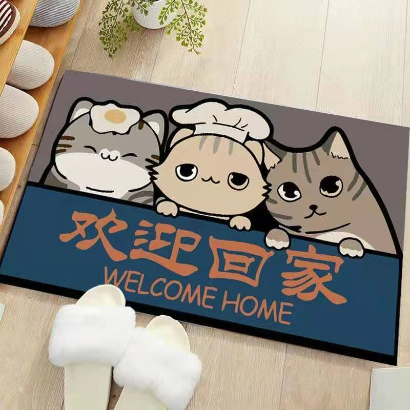Absorbent Polyester Fiber Floor Mat with Cartoon Print for Your Bedrooms