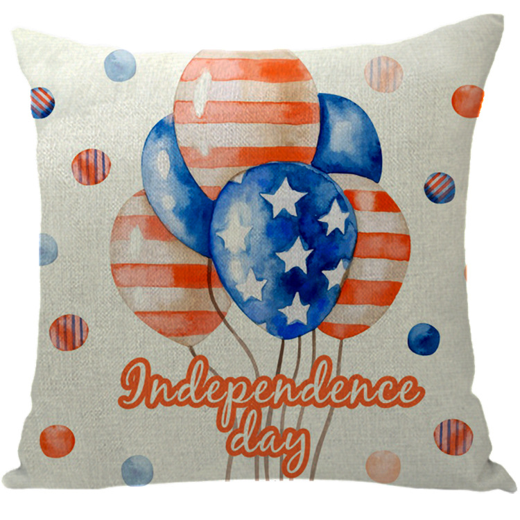 Soft Printed Pillow Cushion Cover for American Independence Day Celebrations