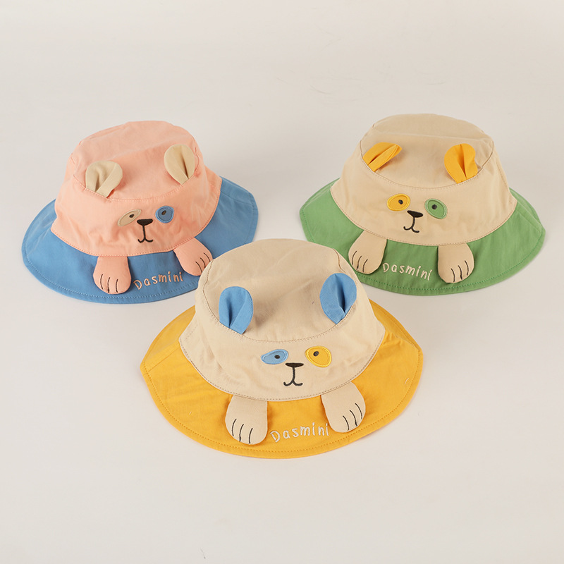 Cute Bucket Hat with Funky Dog Designs for Summer Getups