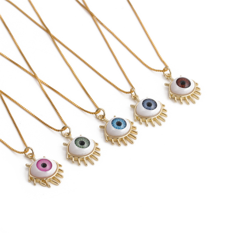 Fascinating Eye with Lashes Necklace for Elementary Students Gifting Ideas