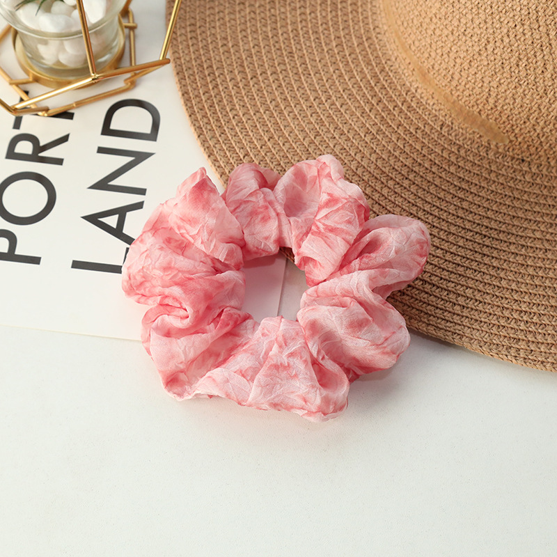Candy-Colored Smoke Design Scrunchie for Outdoor Activities