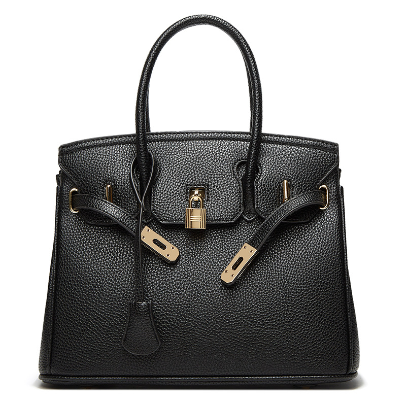 Fictitious Leather Handbag with Sling for Business Meeting