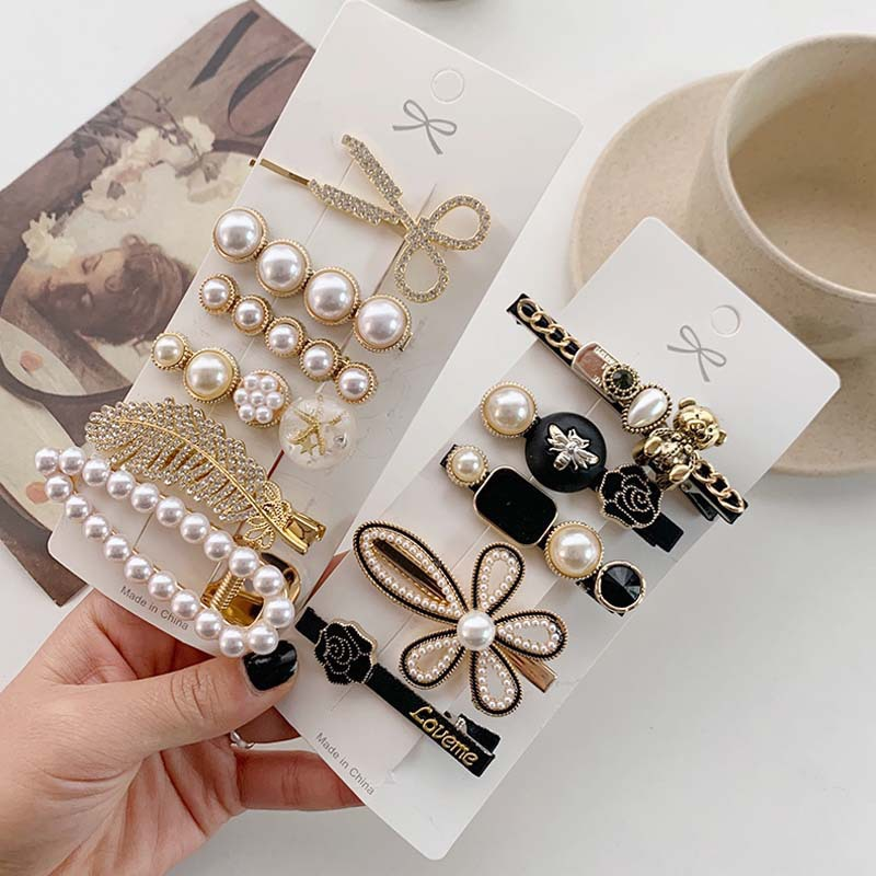 Classy Fashionable Five-Piece Hairclips for Any Occasion Wear