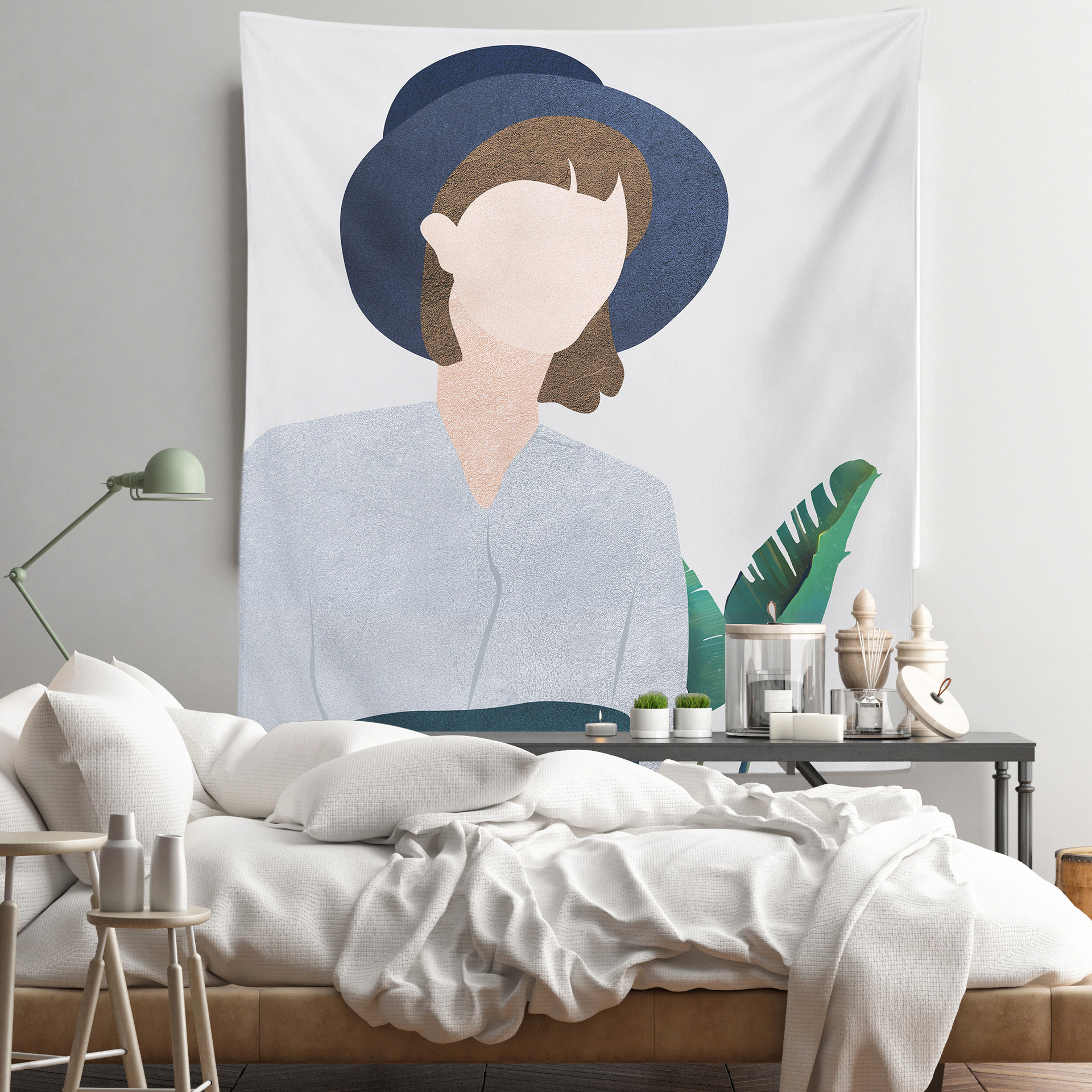 Aesthetic Hanging Painting Background Decoration for Bedroom Wall Art
