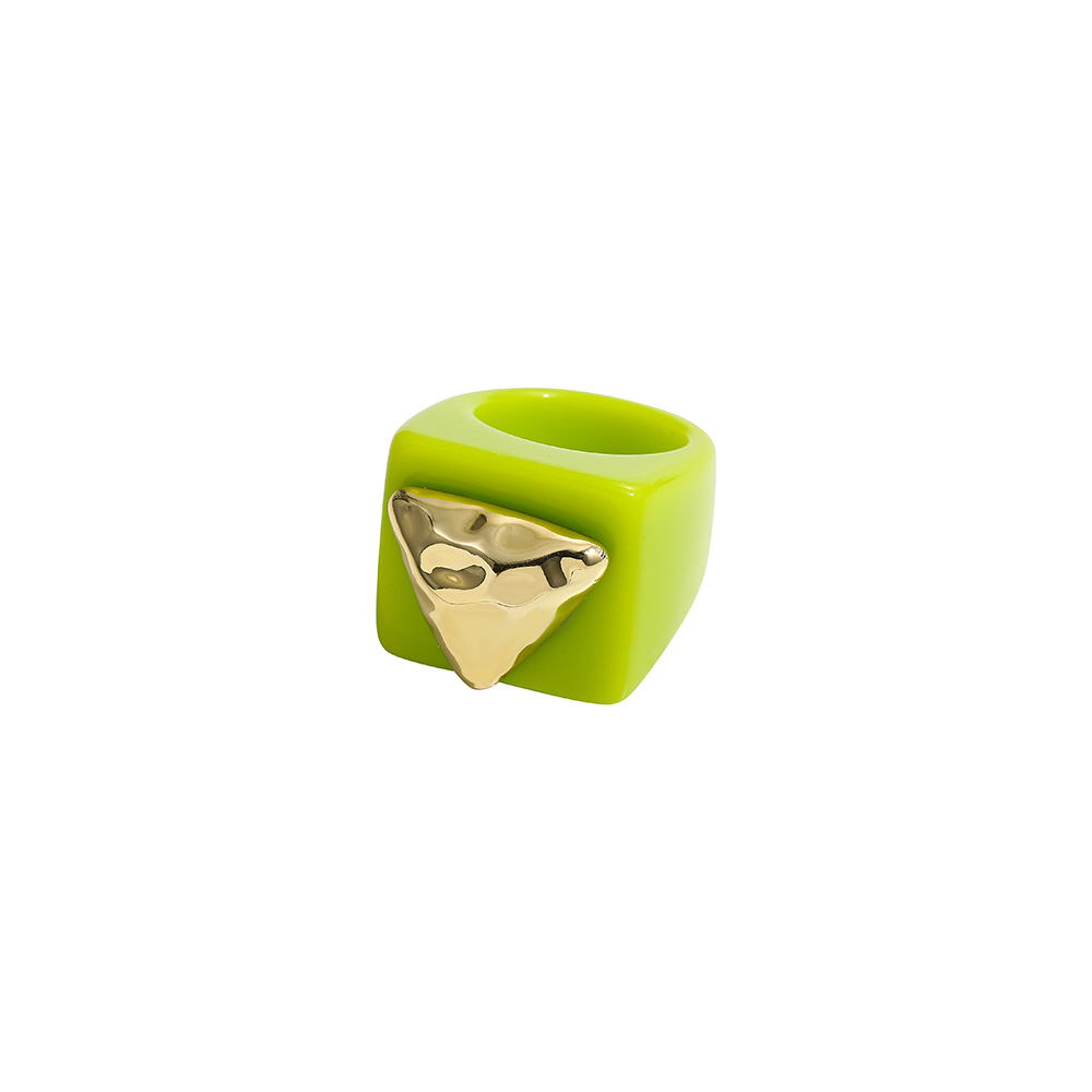 Adorable Resin Color Matching Ring for Children's Fashion