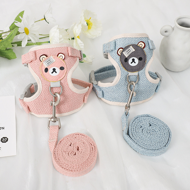 Artistic Pet Harness with Leash for Park Walks