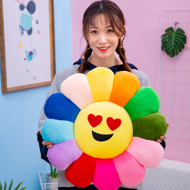 Adorable Smiley Sunflower Pillow for Comfy Nap Time