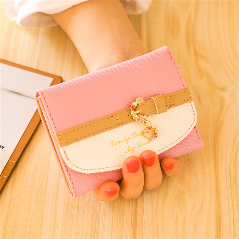 Small Printed Faux Leather Wallet for Small Bags