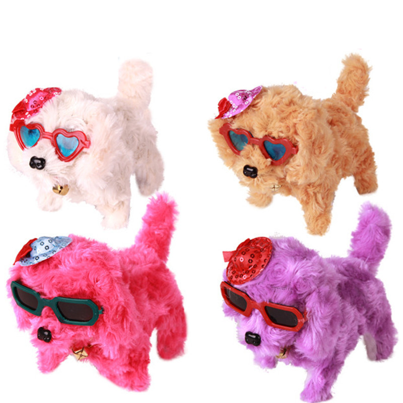Eye-Catching Electric Plush Puppy Wearing Skirt Toy for Children's Gifts