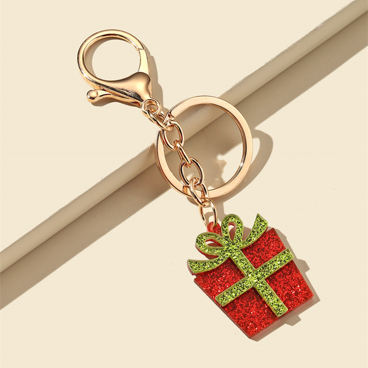 Shining Christmas Series Keychain for Holiday Souvenirs