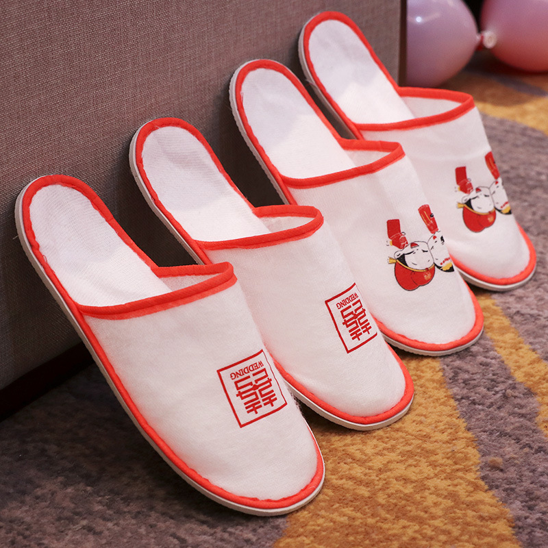 Soft Plush Fabric Slippers for Sleepover with Cousins