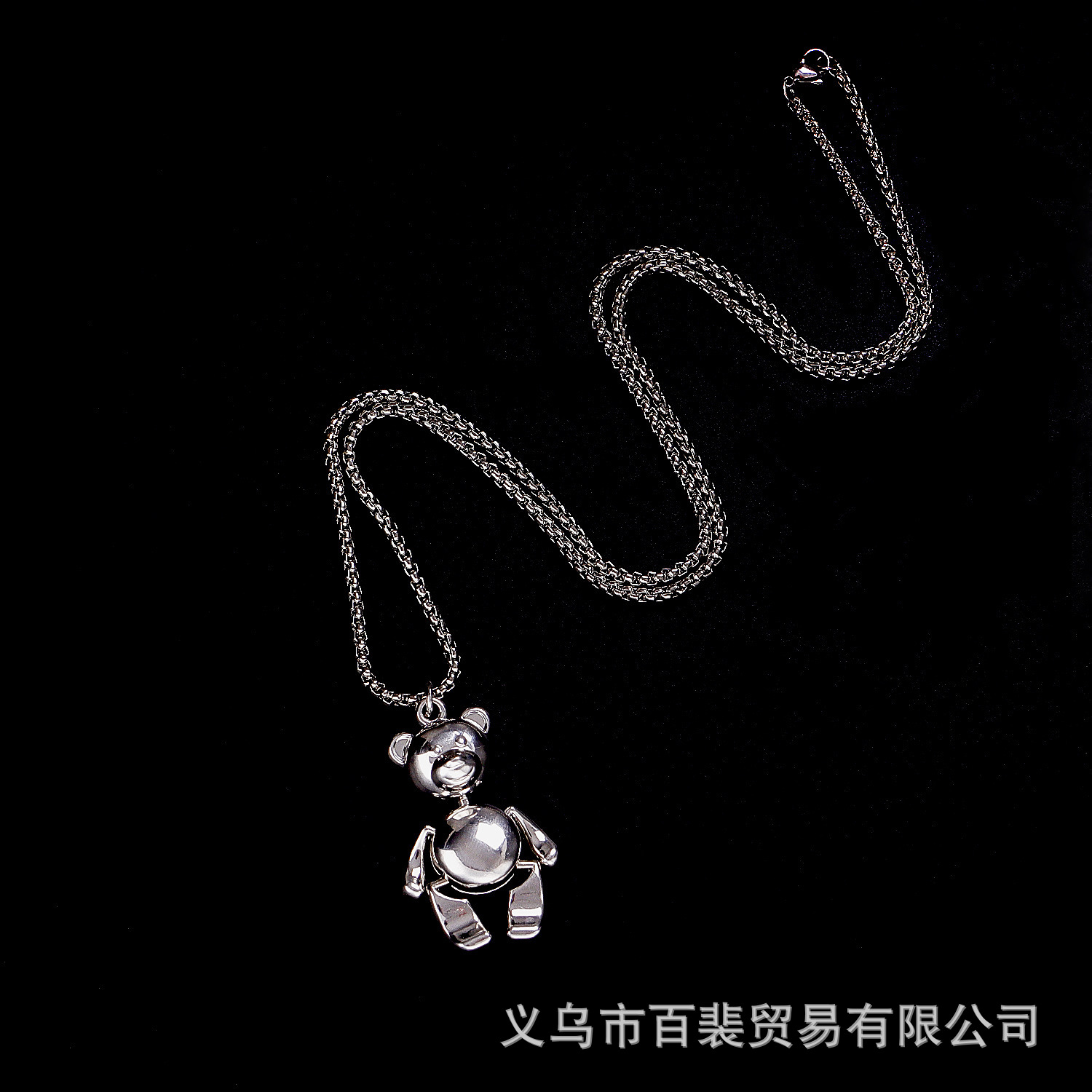 Adorable Teddy Bear Pendant Chain Necklace for Stylish Teenagers