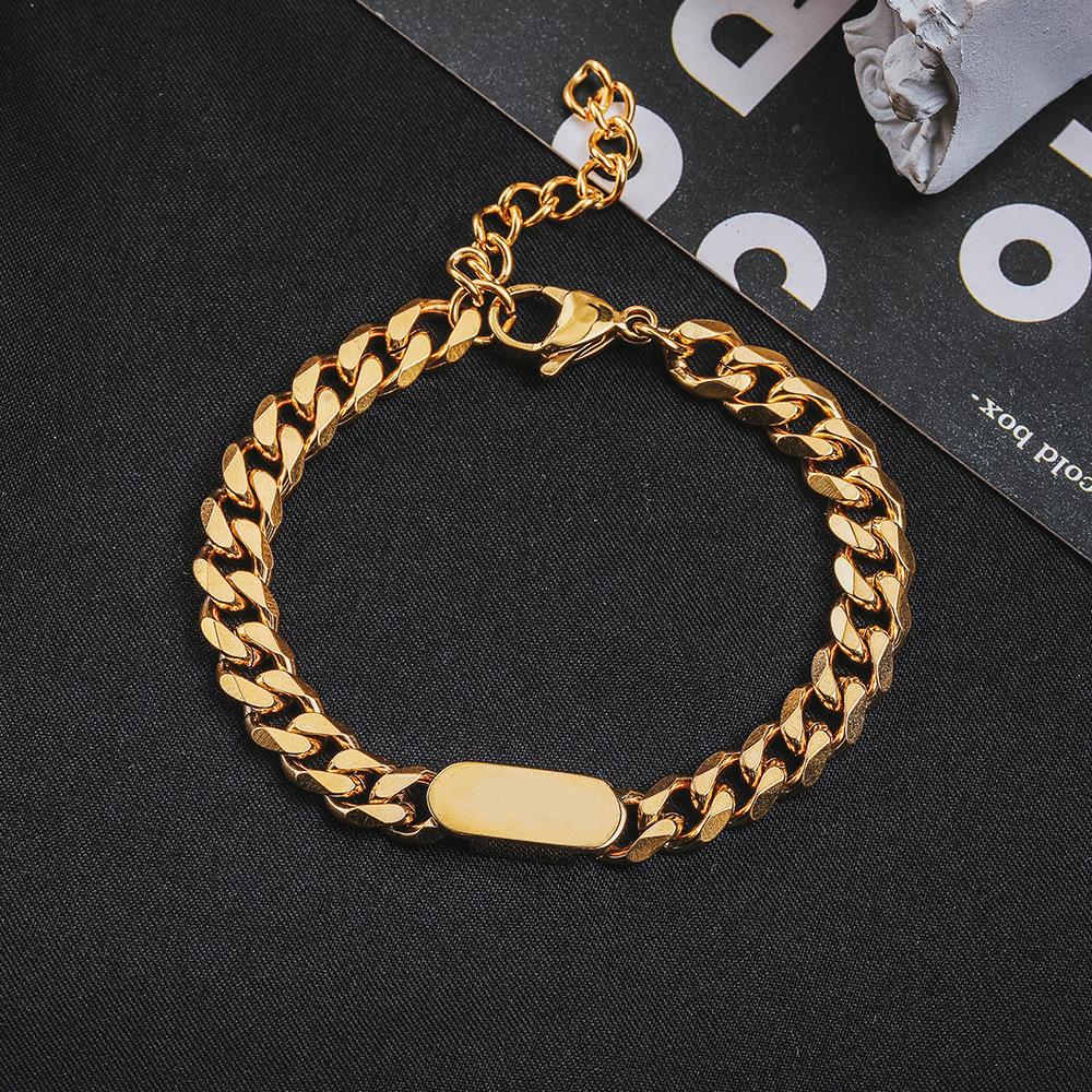 Trendy Titanium Steel Cuban Chain Bracelet for Unisex Fashion