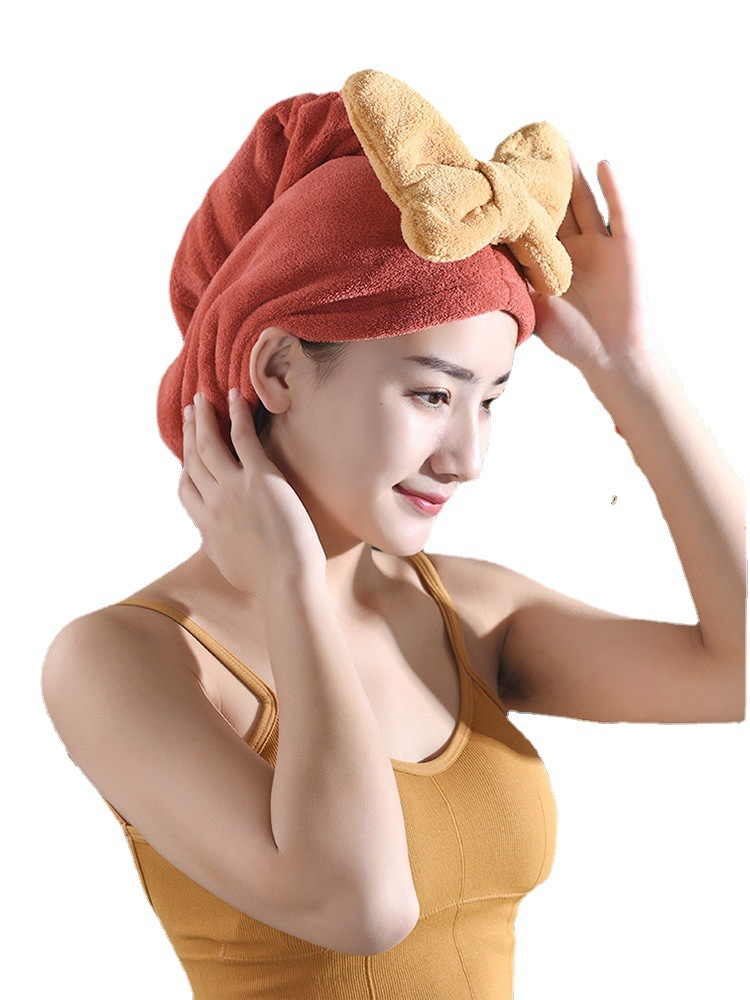 Girlish Ribbon Hair Towel for Nighttime Skincare Routines