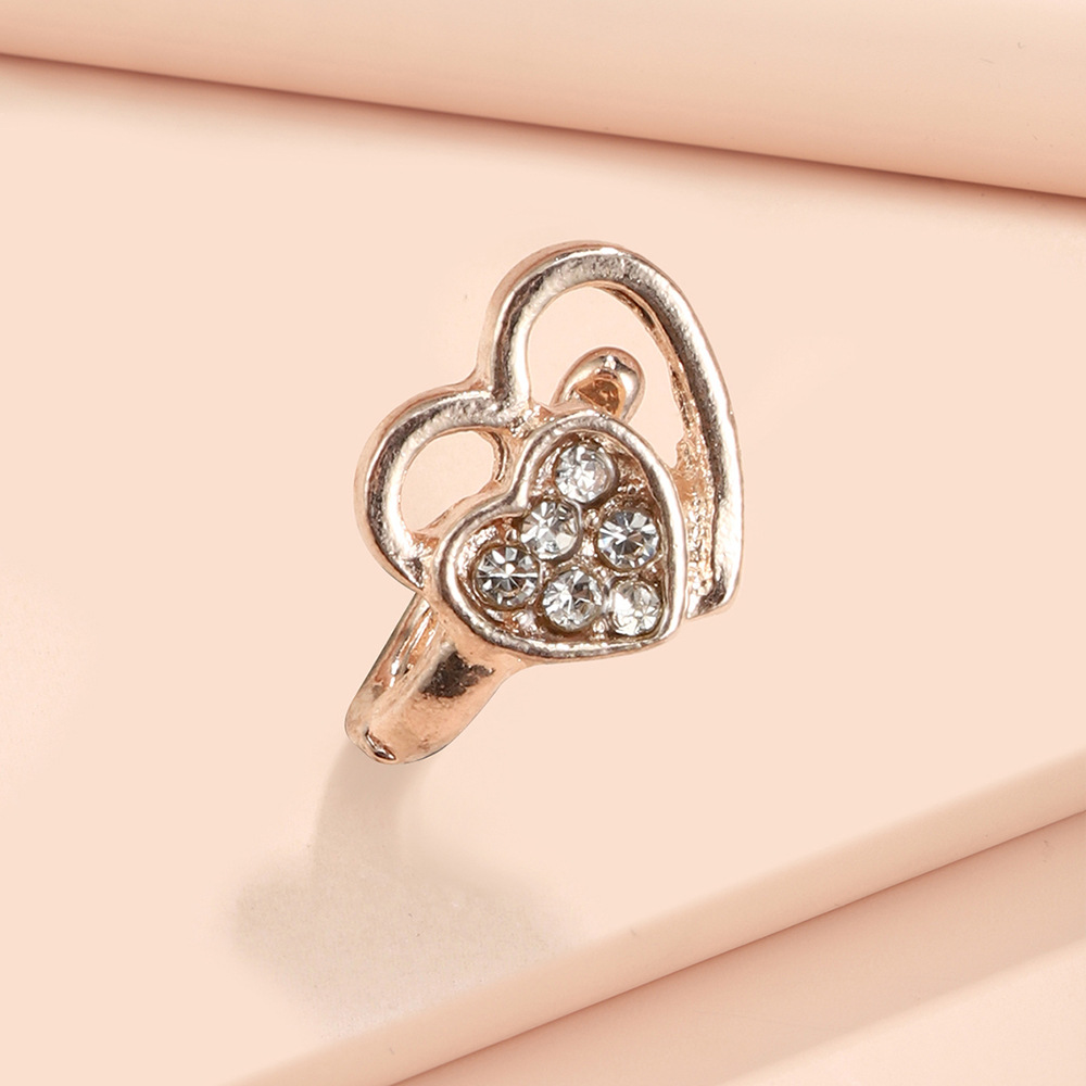 Brilliant Heart Alloy Ring as Christmas Present for Loved Ones