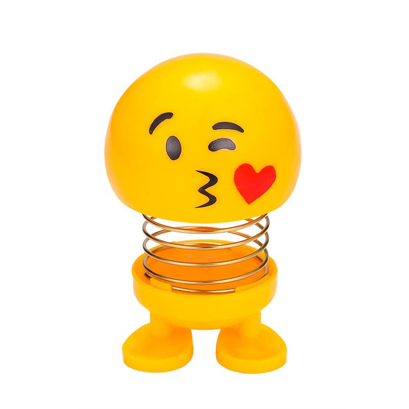 Delightful Emoji Spring Toy for Car Decorations