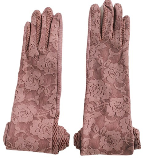 Floral Breathable Long Gloves for Women's Stylish Outdoor Accessories