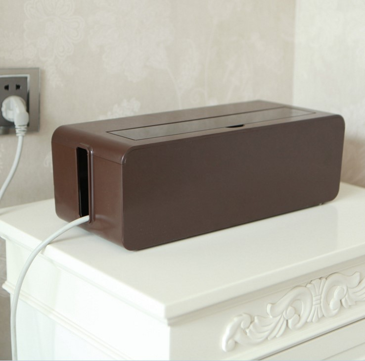 House Socket Storage Box for Minimizing Wire Clutter
