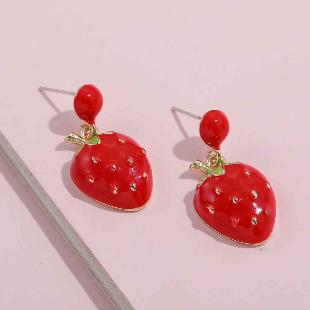 Adorable Fruit-Shaped Earrings for Matching Quirky Outfits