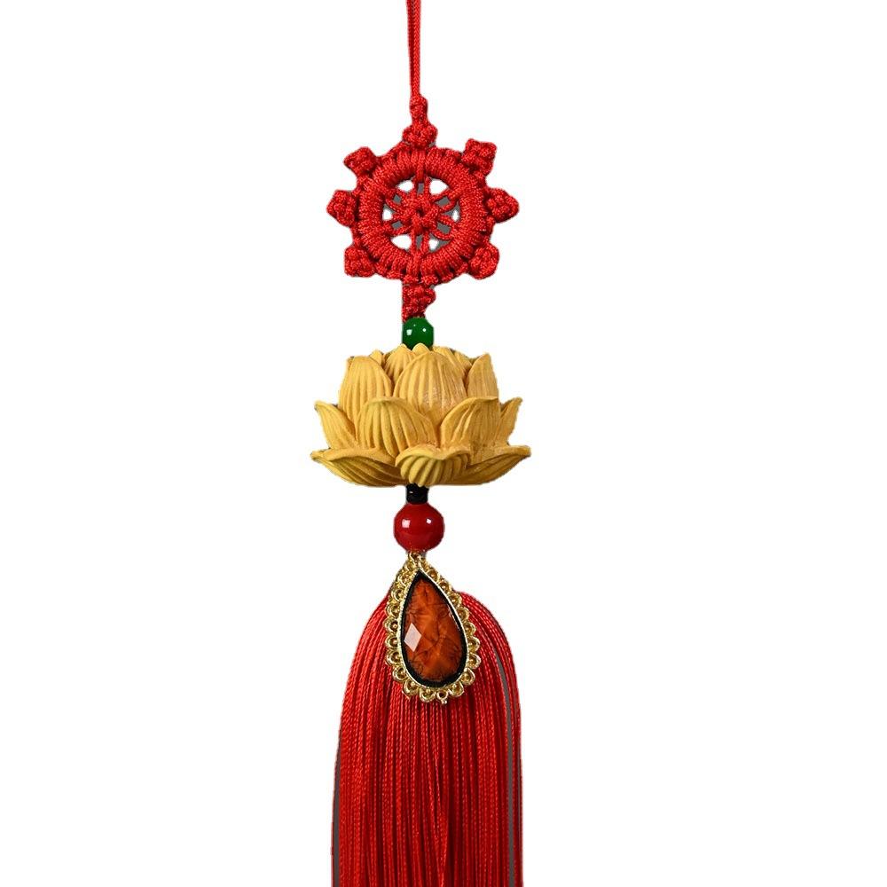 Simple Lotus Car Hanging Tassel Ornament for Decorating Your Car