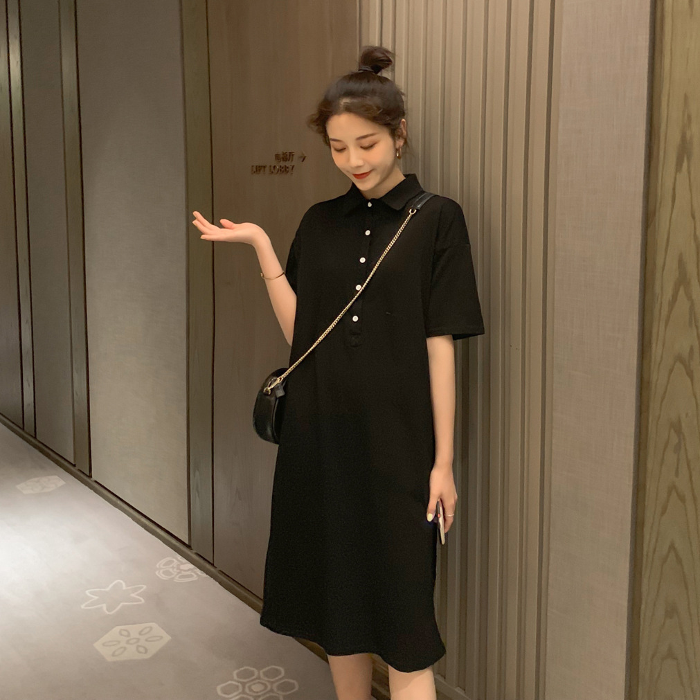 Comfy Plain Polo Dress for Basic Outfit Ideas