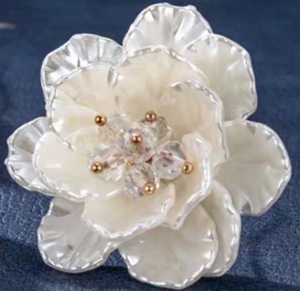 Elegant Hand-Seamed Flower for Clothing Decorations