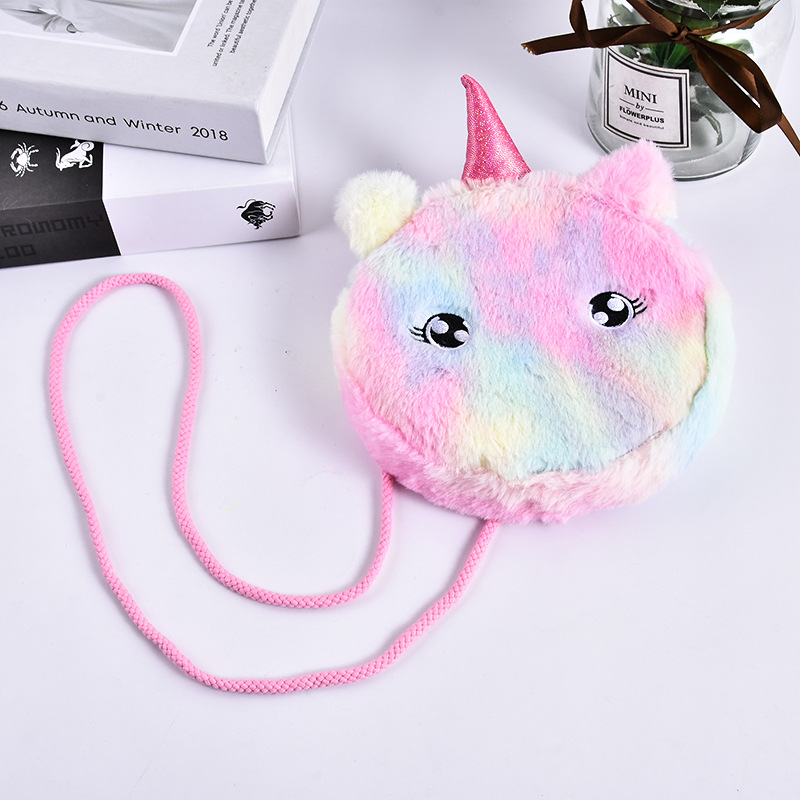 Unicorn Style Plush Cat Bag for Cute Style Bags