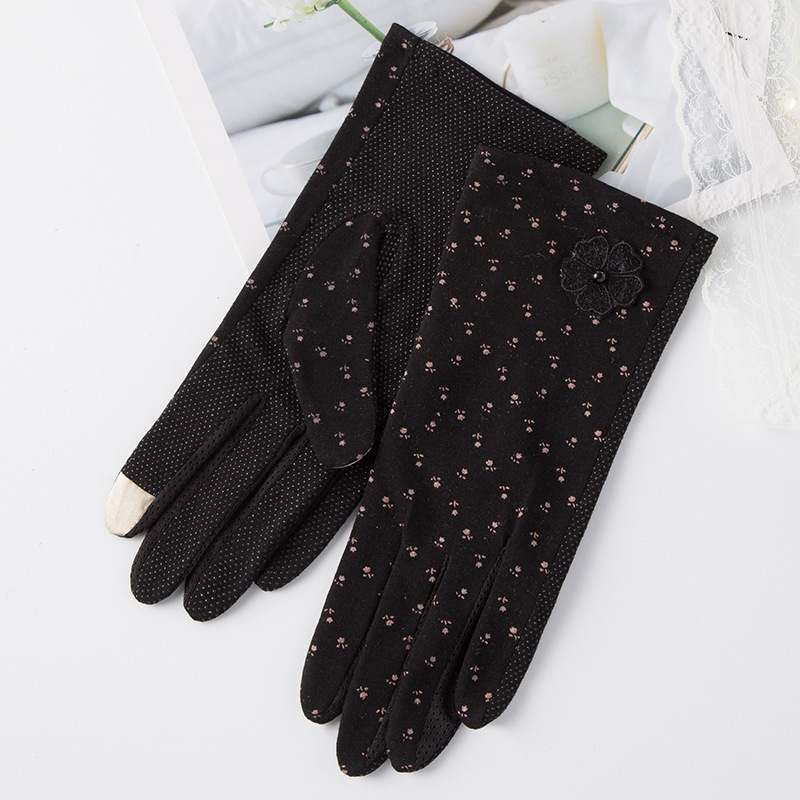 Cute Full Finger Gloves for Ladies' Outdoor Driving
