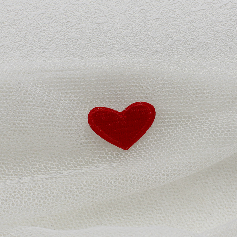 Solid Cute Heart Shape Embroidery Patch for Clothes Decor