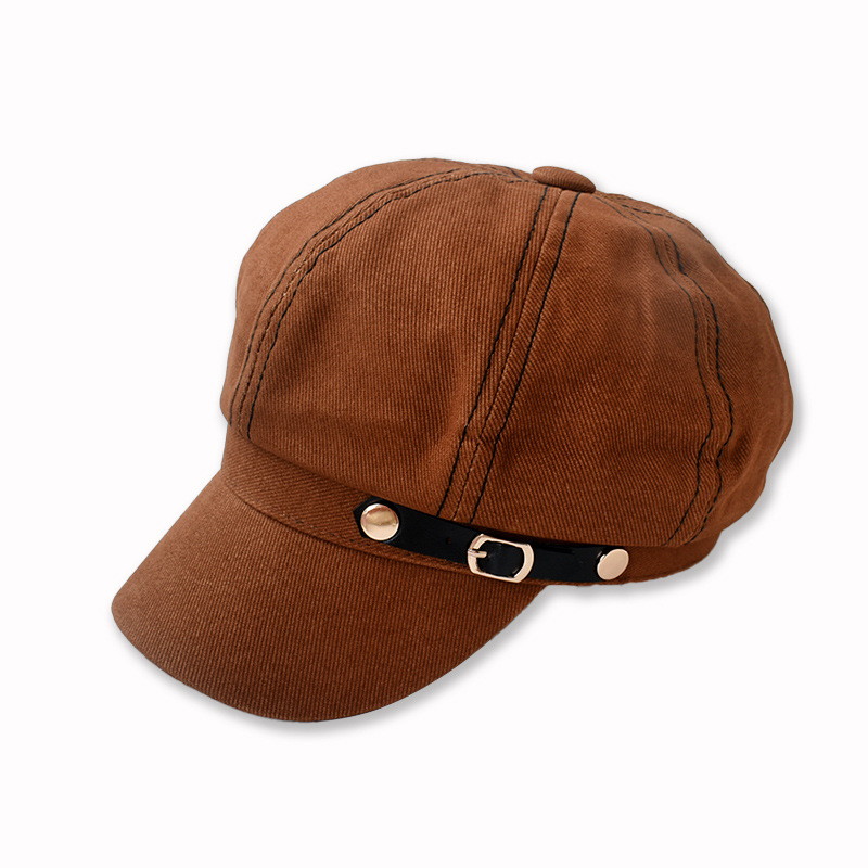 First-Rate Monochromatic Newsboy Hat for British Style Fashion