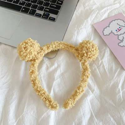 Cute Plush Headband for Keeping Your Hair Intact