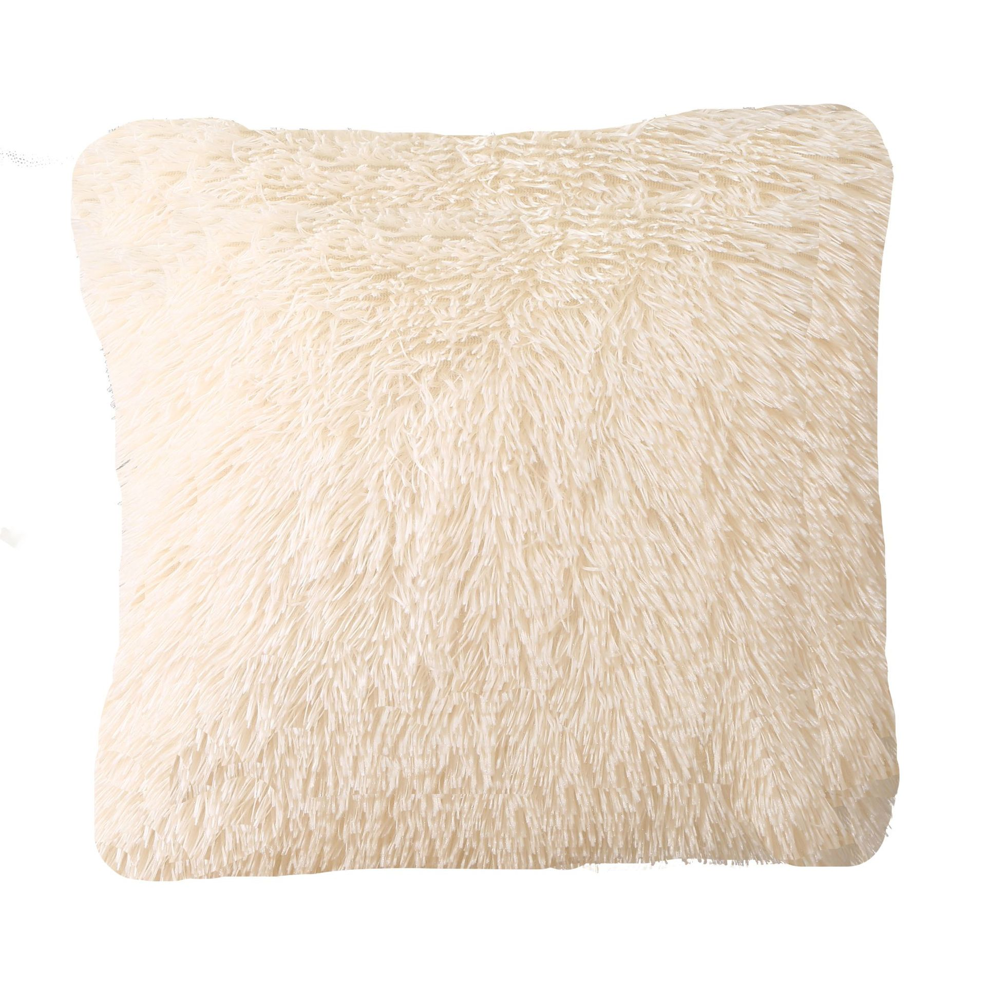Super Furry Plush Pillow Case for Warm Sofa Sets