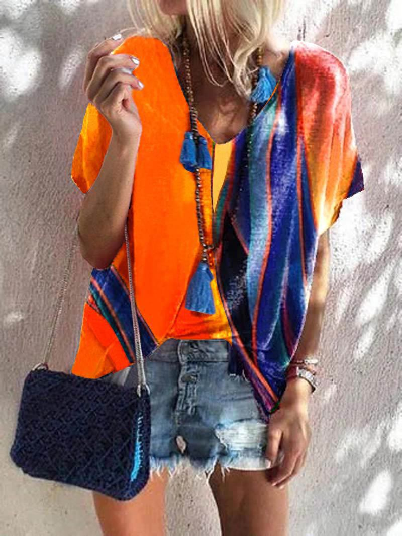 Vibrant Flowy Blouse for Stylish Tucked-In Look