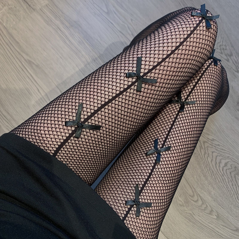 Fashionable Stockings with Ribbon for Spicing Up Outfits