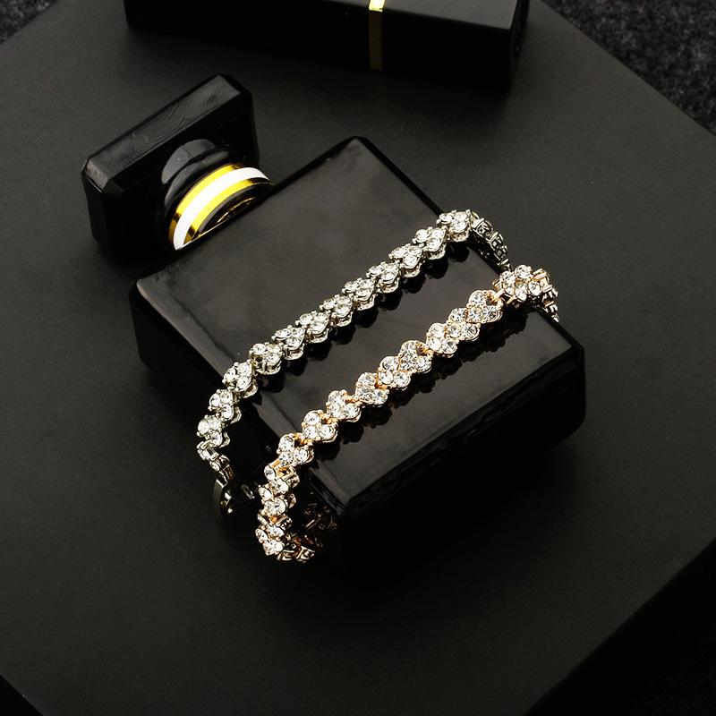 Lux Alloy Minimalist Crystal Bracelets for Women