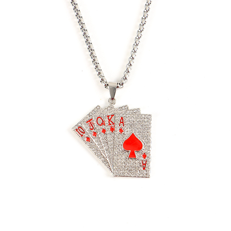 Royal Flush Pendant Necklace for Rebel Style and Fashion