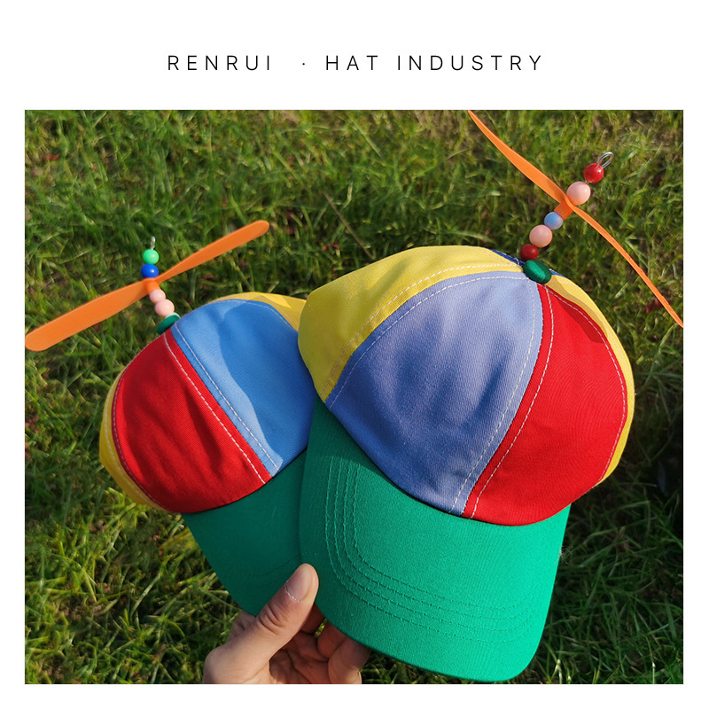 Colorful Baseball Cap with Propeller for Children