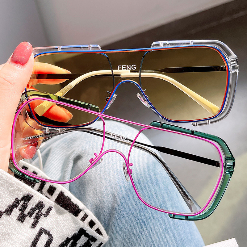 Special Colored Square Sunglasses for Sun Bathing