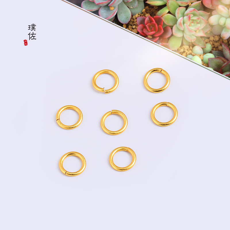 Nice and Versatile Golden Copper Nose Ring for Easy-to-Wear Jewelry