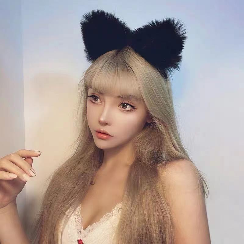 Faux Fur Cat Ears Headband for Cute Hairstyle