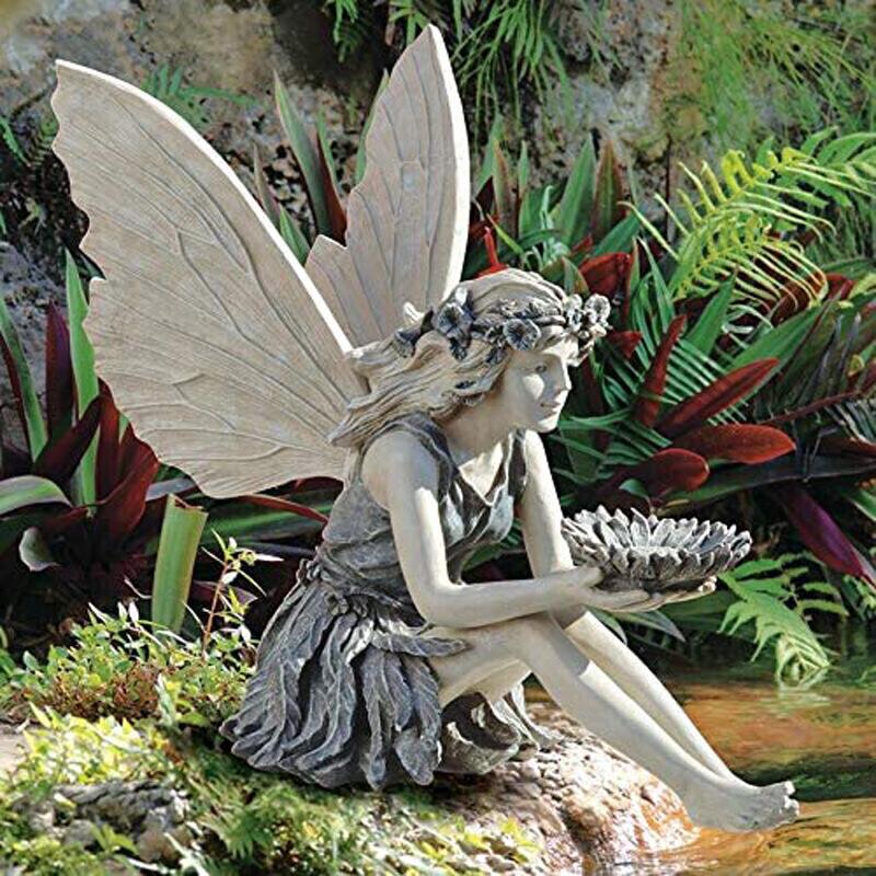 Classy Versatile Angel Bird Feeder for Charming Gardens