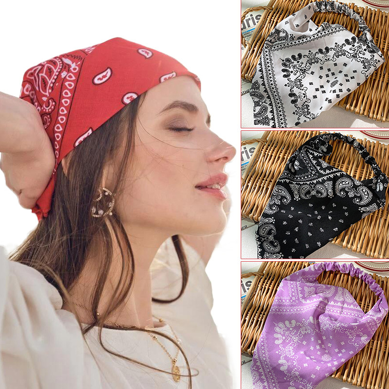 Bohemian Print Elastric Headband for Showing Off Your Personality