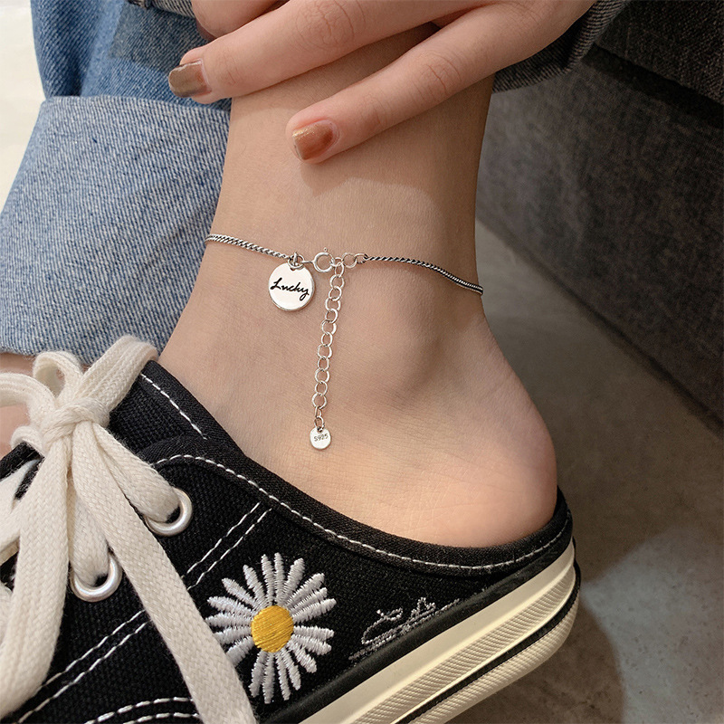 Simple Anklet with Pendant for Mall Shopping