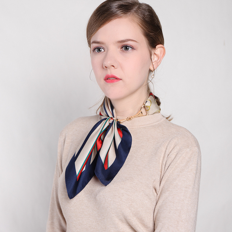 Stylish Mulberry Silk Scarf for Matching Formal Attires