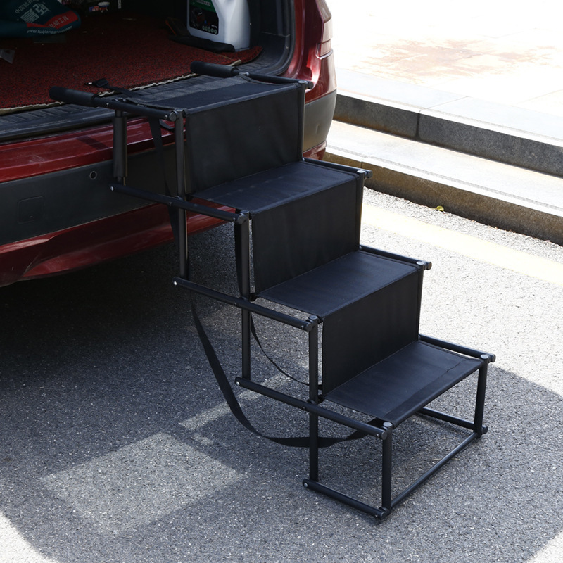 Innovative Small Black Colored Portable Car Stairs for Big Cars