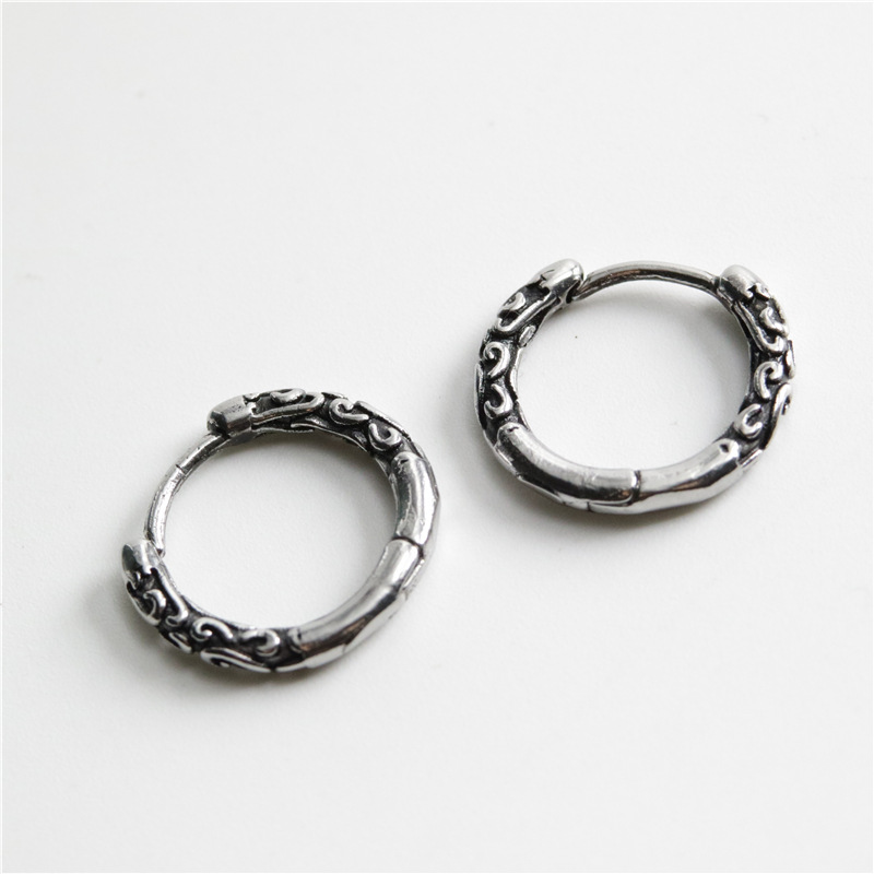 Vintage Titanium Steel Earrings for Men and Women